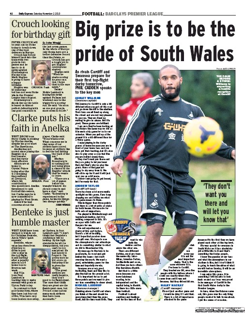Ashley Williams, Swansea City - Express Newspaper